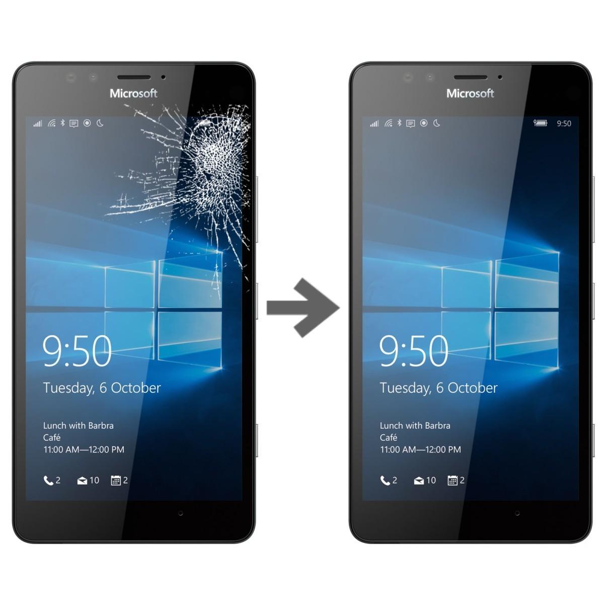 Wymiana szybki w Microsoft Lumia 950