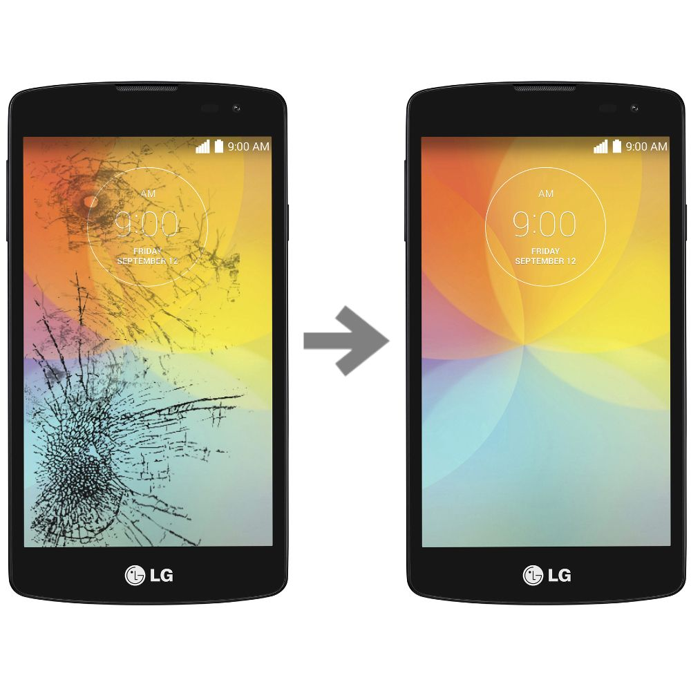 Wymiana szybki w LG FINO F60 (D390N)