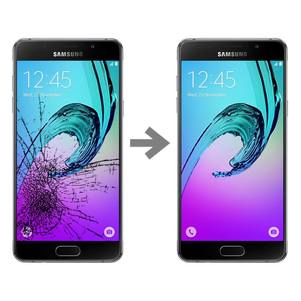 Wymiana szybki w Samsung Galaxy A3 2016 (SM-A310)