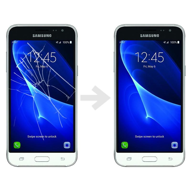 Wymiana szybki w Samsung Galaxy J3 2016 (SM-J320)