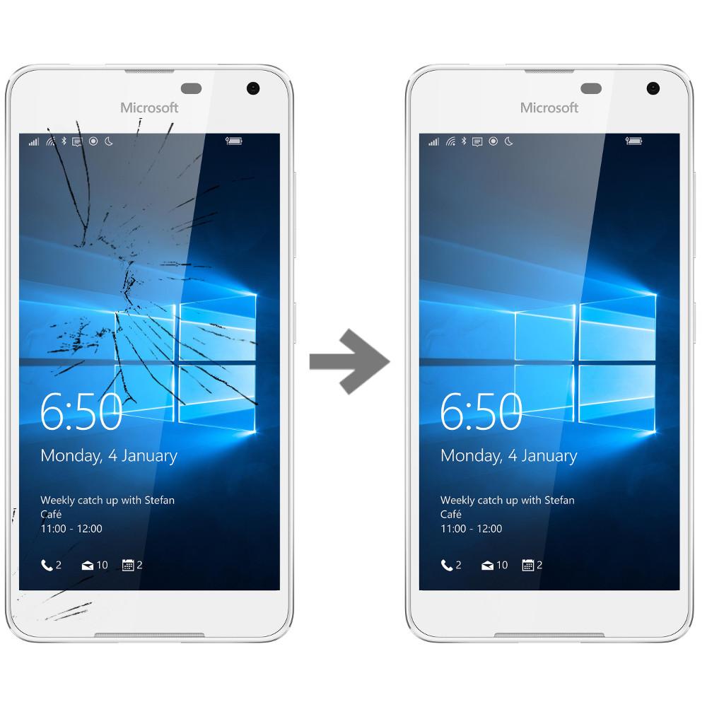 Wymiana szybki w Nokia Lumia 650