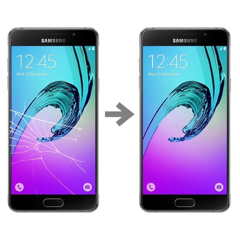Wymiana szybki w Samsung Galaxy A5 2016 (SM-A510)