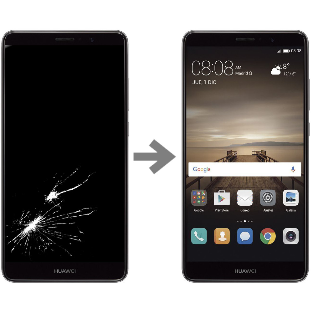 Wymiana wyświetlacza w Huawei Mate 9