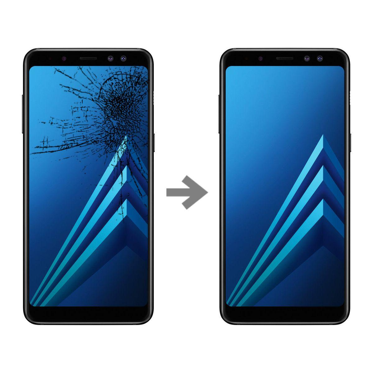 Wymiana szybki w Samsung Galaxy A8 2018 (SM-A530)