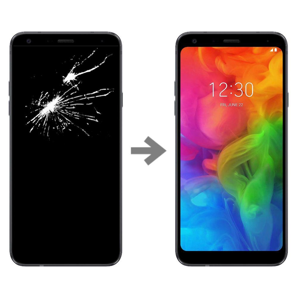 Wymiana wyświetlacza w LG Q7 (lM-Q610)