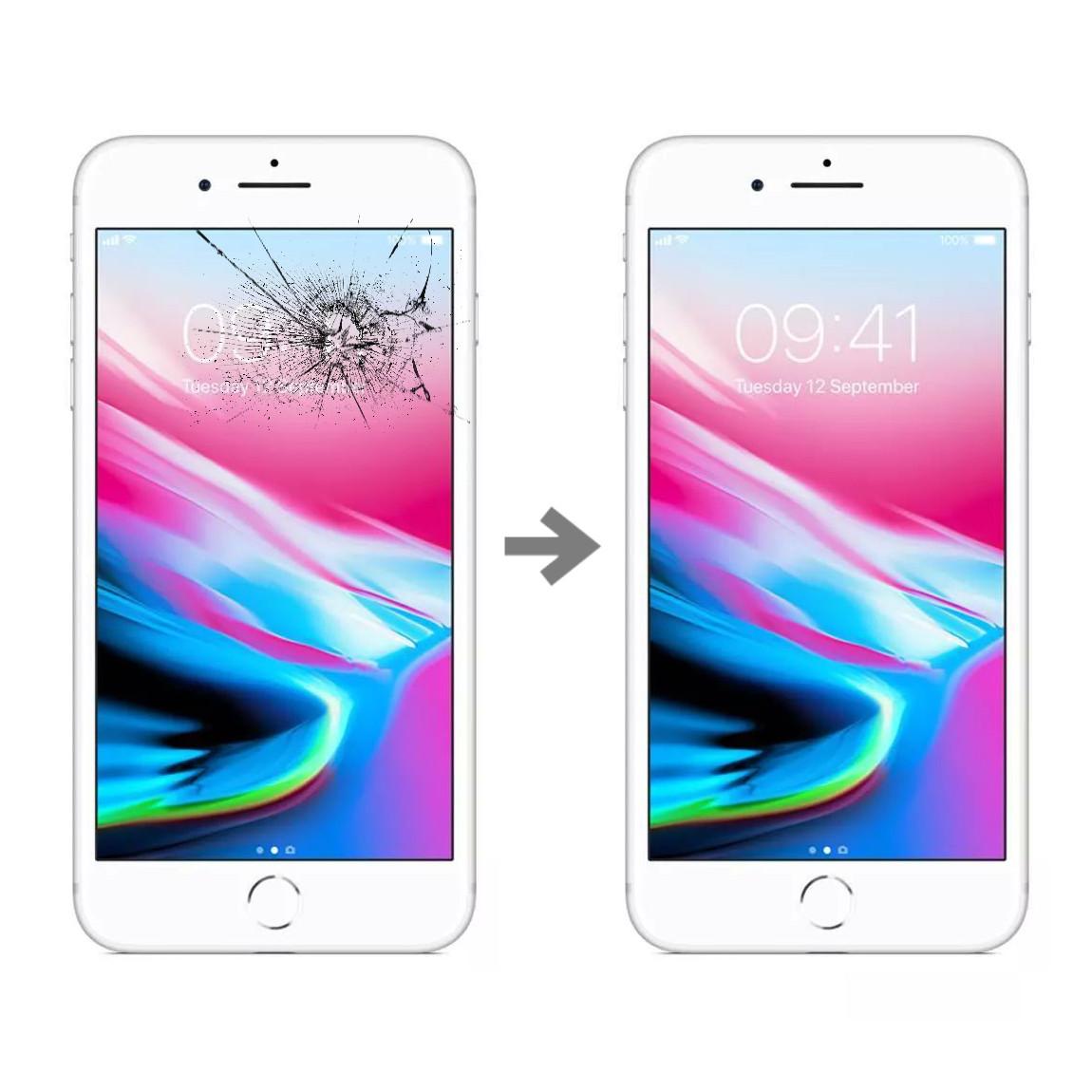 Wymiana szybki w Apple iPhone 8 plus