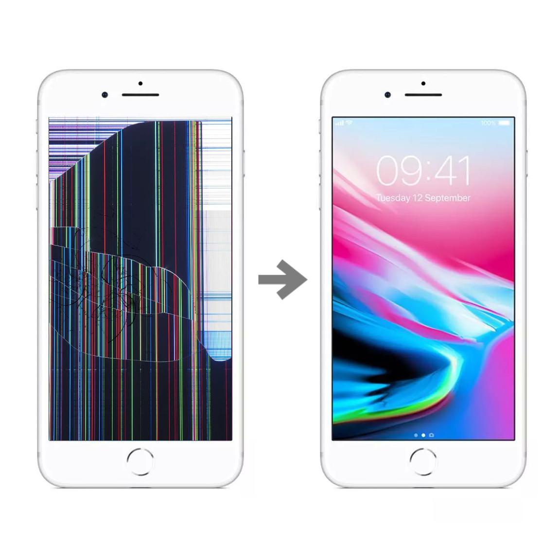 Wymiana wyświetlacza w Apple iPhone 8 plus