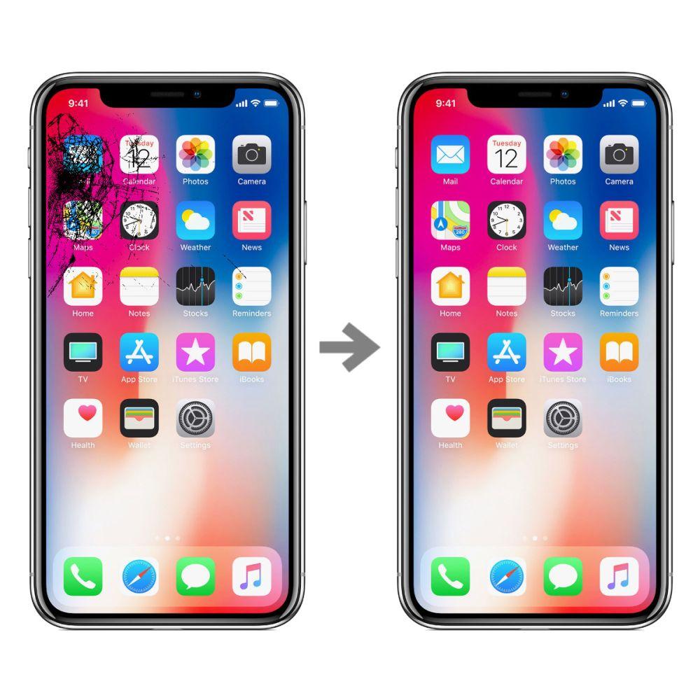 Wymiana szybki w Apple iPhone X
