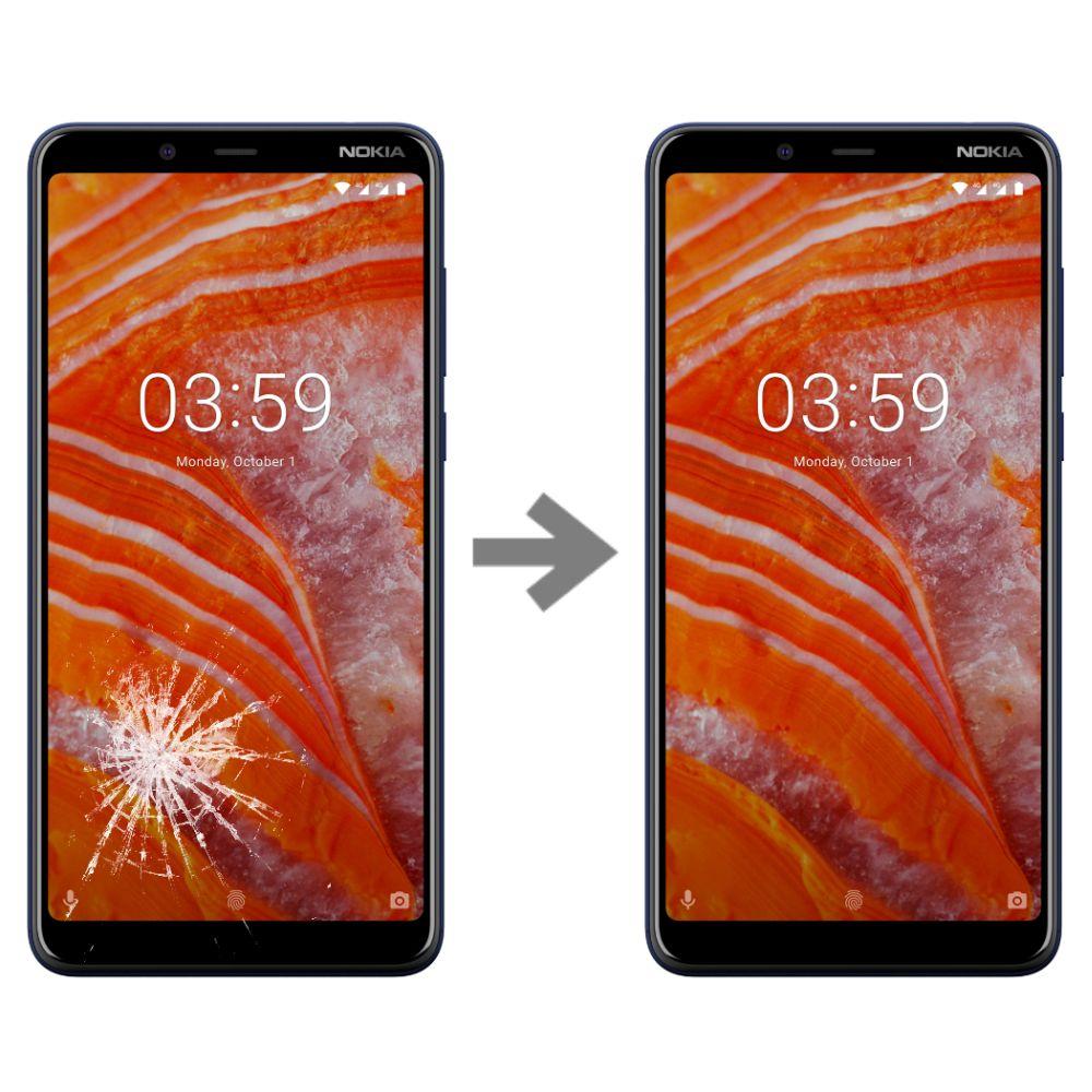 Wymiana szybki w Nokia 3.1