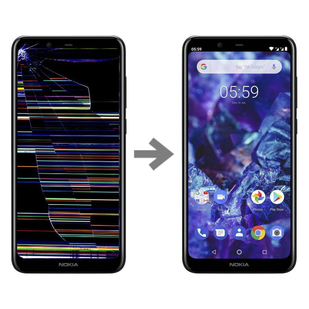 Wymiana wyświetlacza w Nokia 5.1 plus