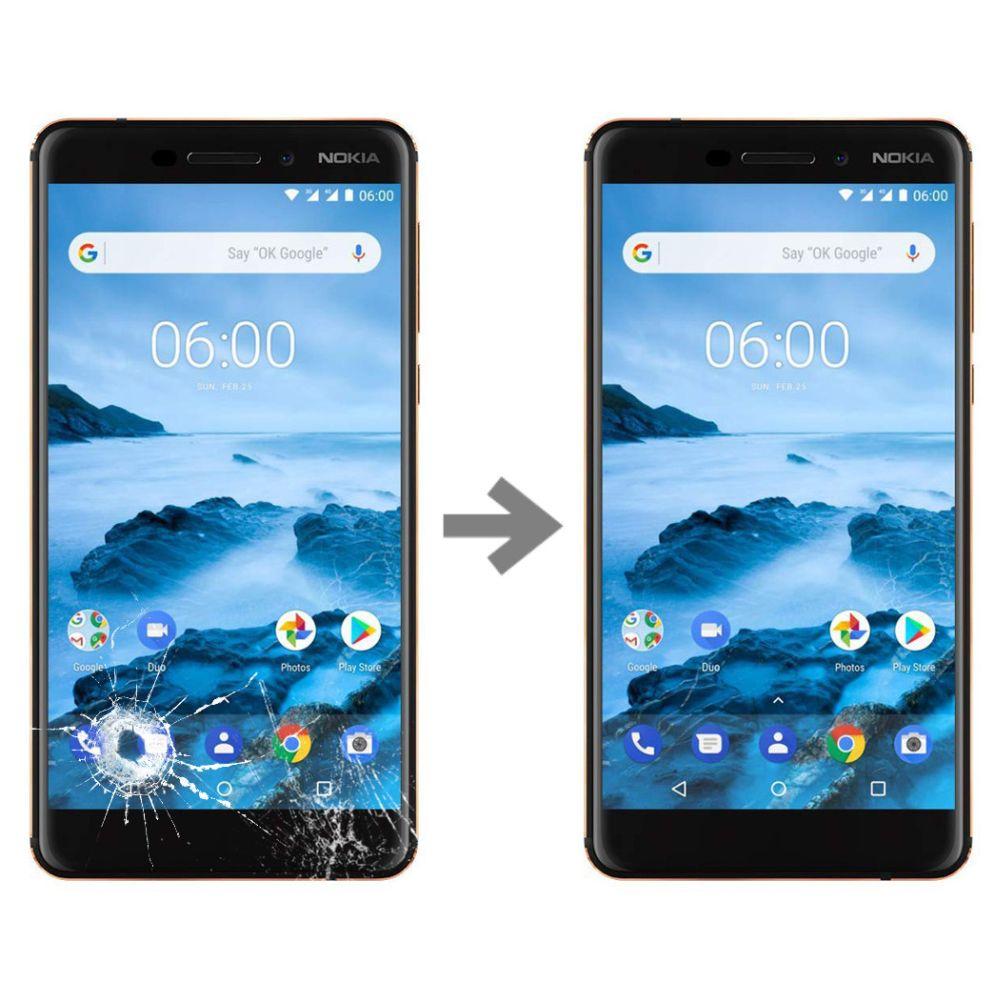 Wymiana szybki w Nokia 6.1
