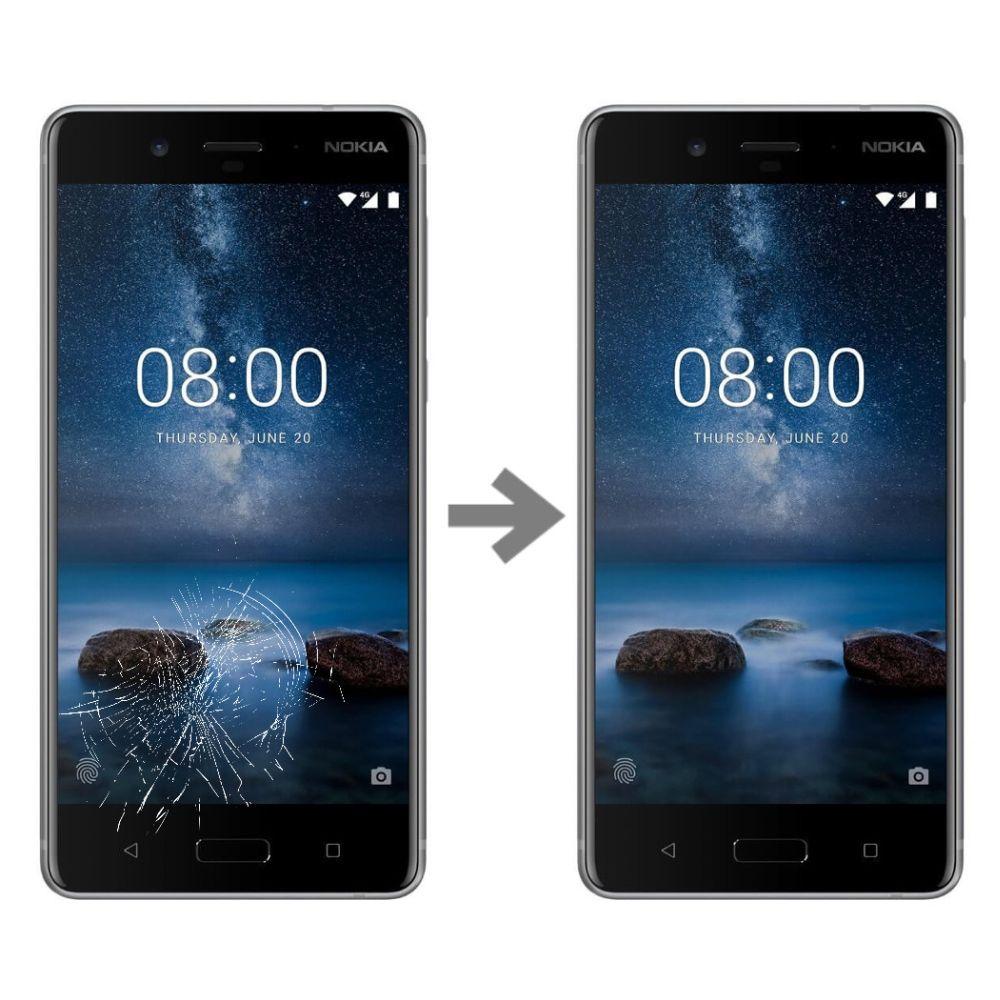 Wymiana szybki w Nokia 8