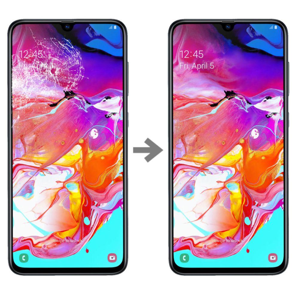 Wymiana szybki w Samsung Galaxy A70 (A705) serwis Poznań