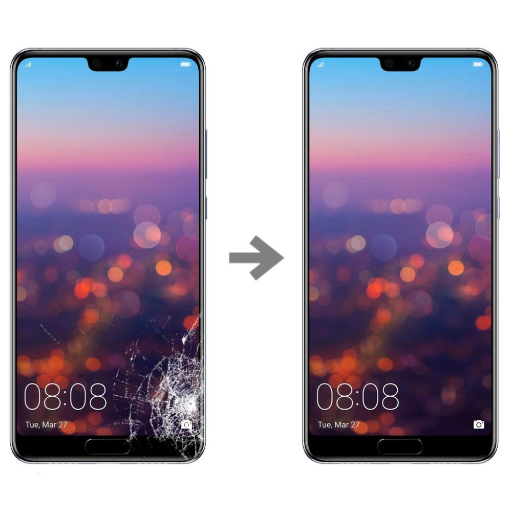 Wymiana szybki w Huawei P20 serwis Poznań