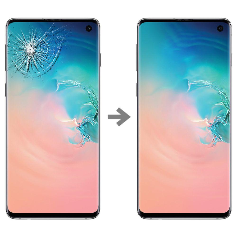 Wymiana szybki w Samsung Galaxy S10 serwis Poznań
