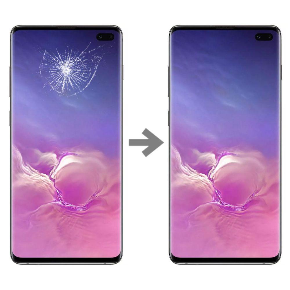Wymiana szybki w Samsung Galaxy S10 plus serwis Poznań
