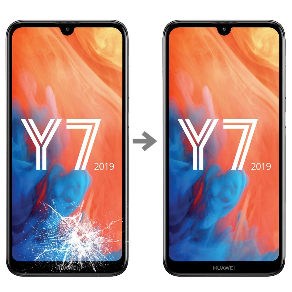 Wymiana szybki w Huawei Y7 2019 serwis Poznań