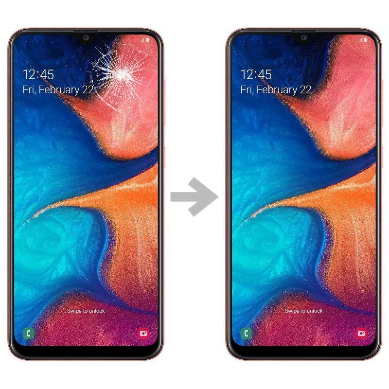 Wymiana szybki w Samsung Galaxy A20e (SM-A202)