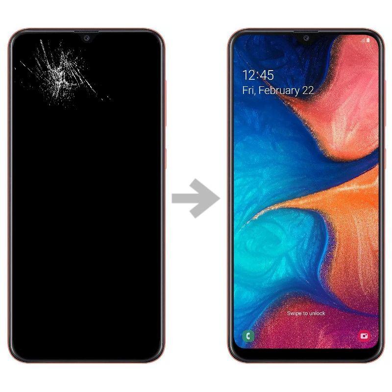 Wymiana wyświetlacza w Samsung Galaxy A20e (SM-A202)
