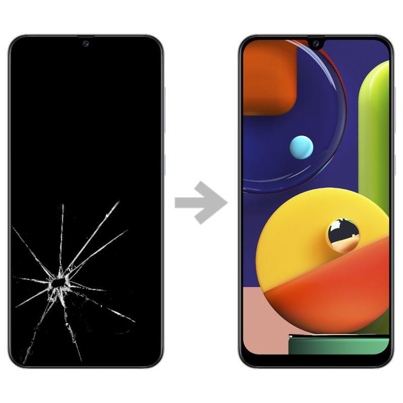 Wymiana wyświetlacza w Samsung Galaxy A50s (SM-A507)