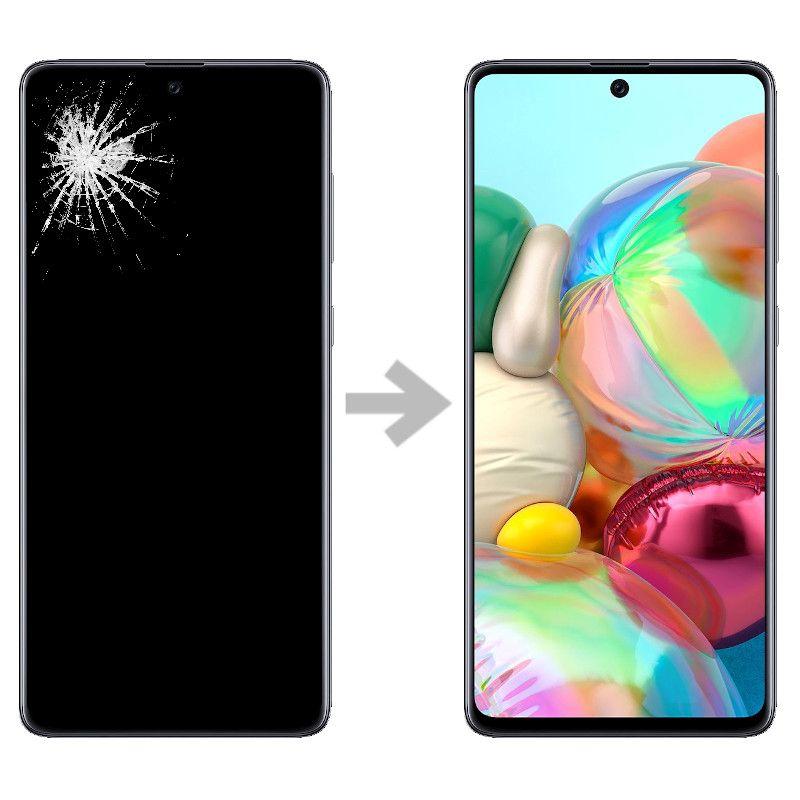 Wymiana wyświetlacza w Samsung Galaxy A71 (SM-A715)