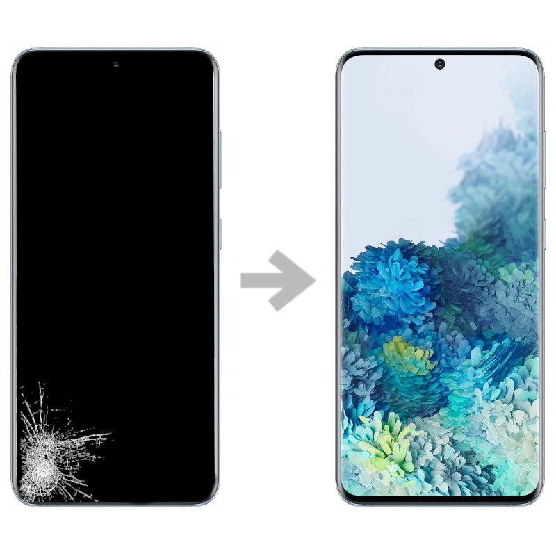 Wymiana wyświetlacza w Samsung Galaxy S20 (SM-G980)