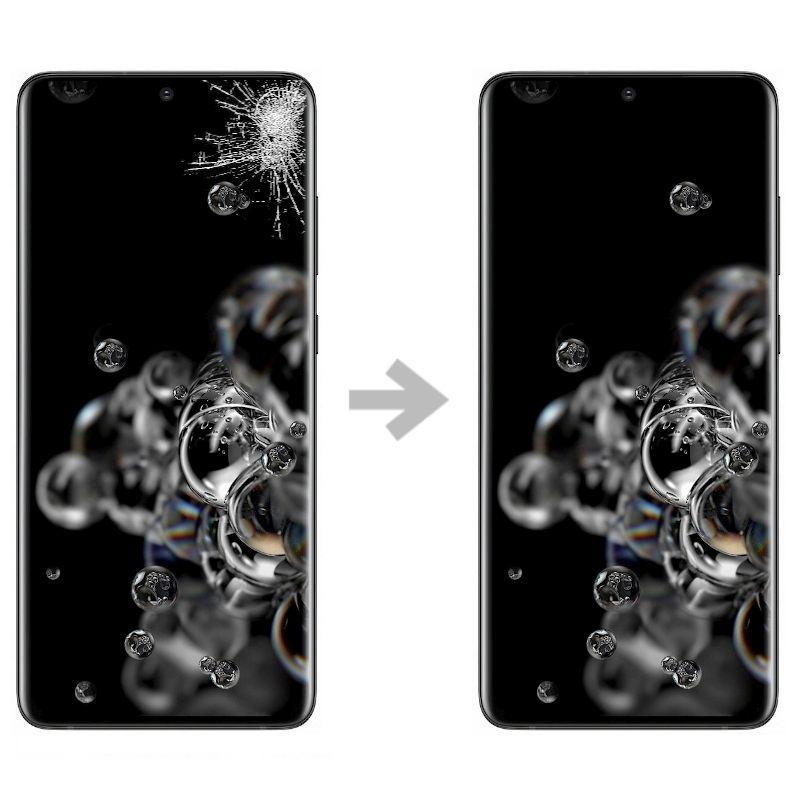 Wymiana szybki w Samsung Galaxy S20 ultra (SM-G988)